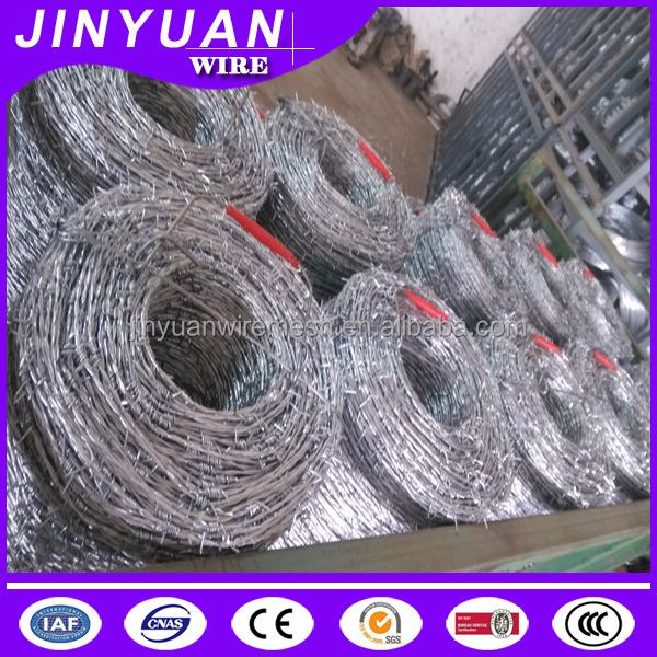 Cheap galvanized iron/plastic barbed wire from Dingzhou Jinyuan factory