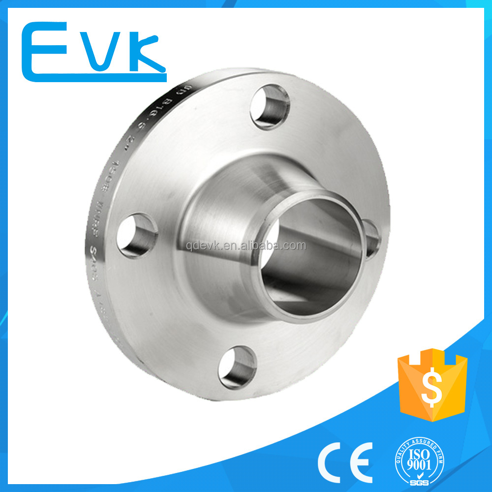 Stainless steel ansi b16.5 class 150 welding neck flange