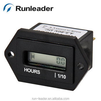 Digital LCD resettable hour meter for the industrial device garden equipments forklift air compressor AC/DC powered engine hour