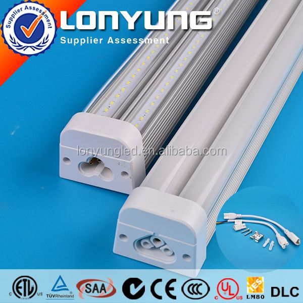 LONYUNG Patent 1-8ft 8-60w thl t5 mobile phones T5 LED Integrative Double Tube
