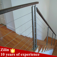 Modern metal deck railing systems/steel railing parts/steel cable deck railing