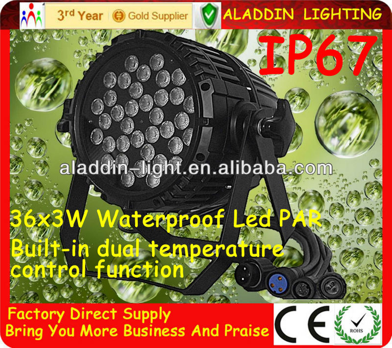 In China can produce par 64 led 36x3w rgbw
