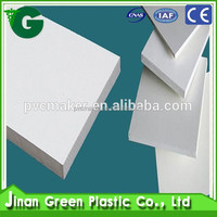 Green 2016 hot sale PVC Material Expanded Pvc Foam Sheet 10mm density 0,45 g/cm3