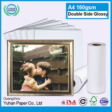 Factory Price A4 160 gms Double Sided waterproof Printered Glossy Inkjet Photo Paper