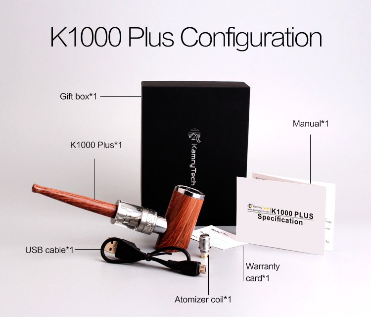 E pipes vapor gift electronic pipe smoking k1000 plus on sale