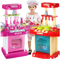 Children Classic Pretend Play Kitchen Set Toys Educational Cheap For Children Birthday Christmas Gift