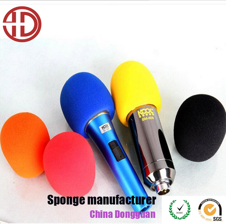 Factory direct sale colorful custom sponge high quality microphone foam cover