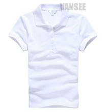 Dry fit slim style women plain polo shirts