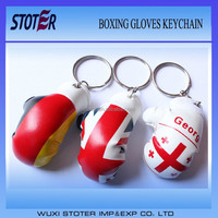 hot sale and cheap boxing gloves key chain ST7090