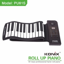 Silicon flexible 61keys piano educational toys for kids midi controller with LED indicator with piano for keyboards music piano