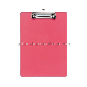 China supplier wholesales custom standard size plastic storage clipboard, A4 clipboard folder