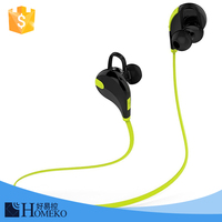 High-end configuration mini wireless stereo QY7 bluetooth earphone,neckband micro bluetooth sport headphones