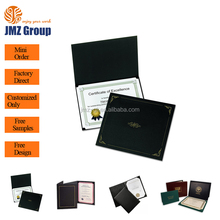 High Quality Cheap Leather Cover File Paper A4 Certificate Holder