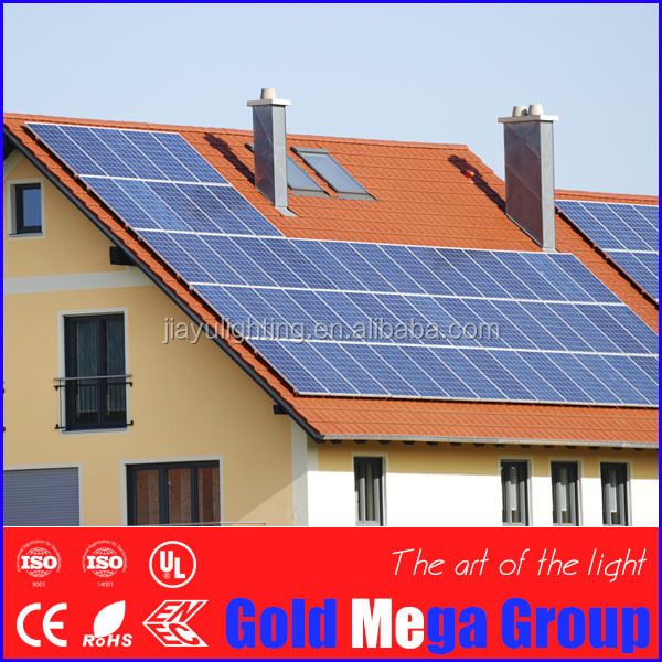 China best PV supplier mono & poly 300w 1KW-6KW Off Grid solar panel system for Mauritius home hotel apartments