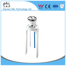 Toilet abs chrome push button replacement dual flush push button for cisten mechanism