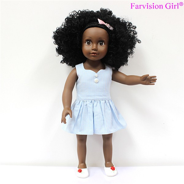 18 inch dolls wholesale afro hair black dolls cute American Girl doll factory