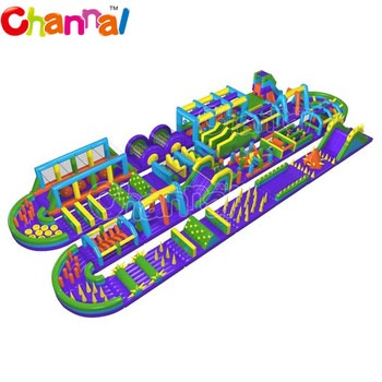 Cheap world's biggest inflatable obstacle course, longest and largest the beast adult inflatable obstacle course for adults