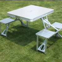Outdoor folding camping picnic table