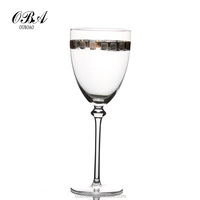 elegant design goblet glass, Crystal glasses, hotsale glass wine goblets for wedding ,hotels, home.