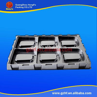 Recycled material high quality pet packaging tray with handle
