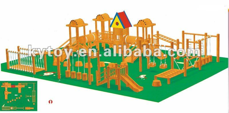 Wooden Play Structure(KYV-146-3)