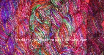 hand made sari silk knitting yarn