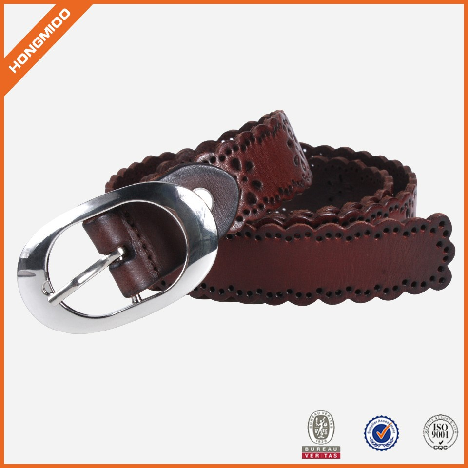 Custom Casual Wide Color Leather Womens Fashion Belts
