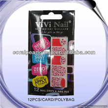 Free Shape Shell Art Nail Polish Strips With File