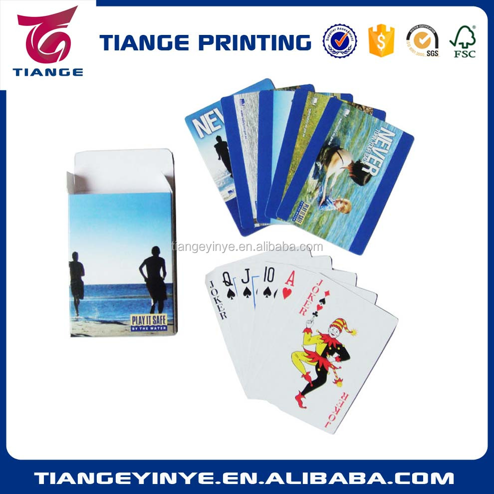 Custom Logo Advertising paper Playing Cards