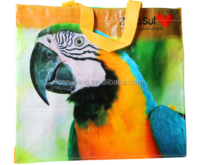 waterproof pp woven lamination shopping bag