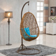 Round Rattan Hanging Wicker Swing Egg Chair