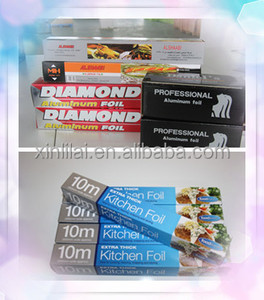 eco-friendly diamond brand aluminium foil, household foil roll for packaging