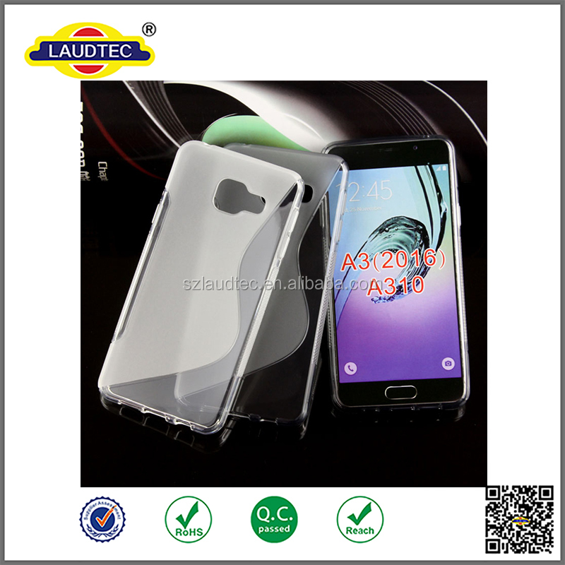 Hot Selling S Line TPU case soft cover for Samsung Galaxy A3 (2016)
