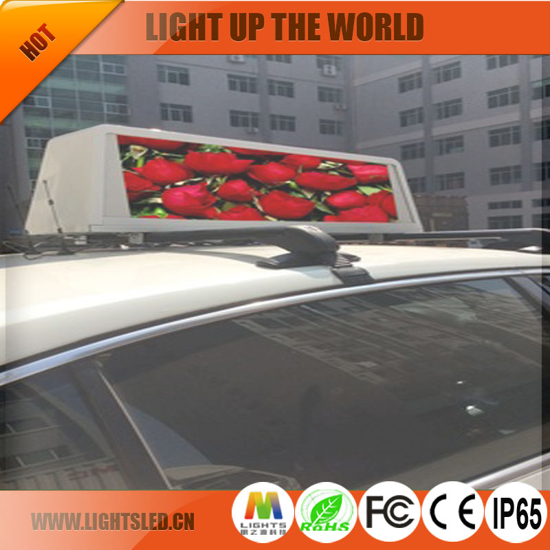 P5a outdoor full color waterproof led taxi top display double side advertising company