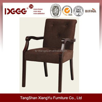 Used Restaurant Table and Chair,Upholstered Furniture Cheap Wooden Armchair Wholesale