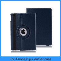 For apple ipad6 360 degrees rotate holder pu leather cover ipad air 2 case