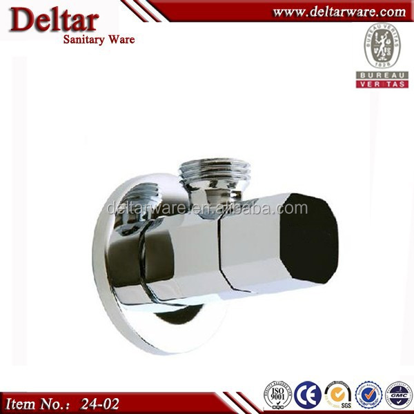 bathroom faucet angle valve, brass material corner valve, chome plating top quality faucet valve core