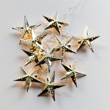 Battery Operated LED Warm White Fairy Christmas Star String Lights Decoration Light for Festival