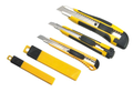 Multi functional snap off knives and tool set 6 piece with blade dispenser
