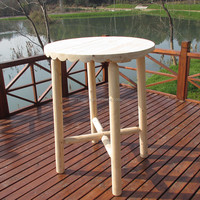 outdoor wooden bar table