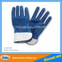 oil free Nitrile coated safety glove