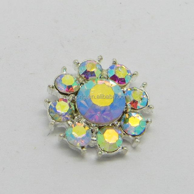 DEC10146 Vintage Crystal rhinestone button Shank Buttons Sewing Craft Embellishment
