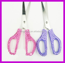 Custom color clear crystal bling rhinestones scissors