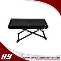 Factory manufactured iron black guitar pedal guitar footstool
