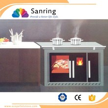 Renewable energy biomass wood pellet cooking stove, fireplace equipment