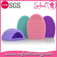 Sofeel Wholesale Silicone Cosmetic Make Up Brush Cleaner Brush Egg