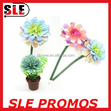 2015 hot sale novelty promotion pincushion pot flower top pen