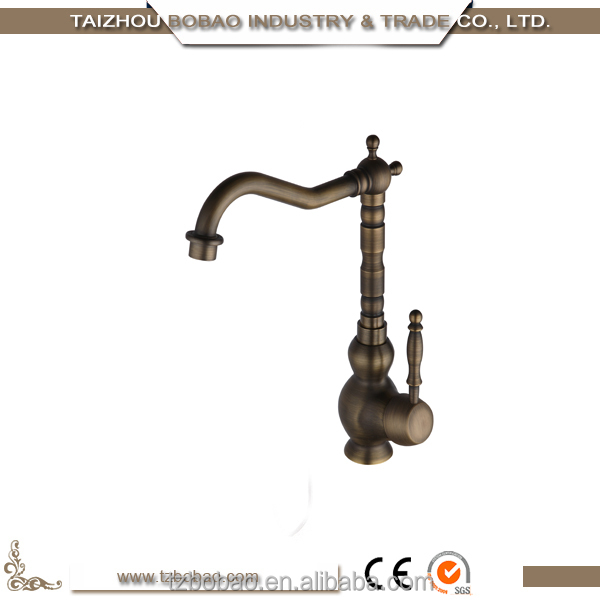 Promotional Portable Eco-friendly Red Color Gold-plated Bamboo Antique Brass Kitchen Faucet