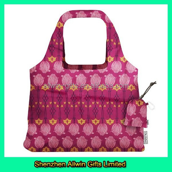 Promotional Style Foldable Pink Women Tote Cotton Shopping Bag