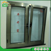 White color new designs iron grill window push out aluminum window tilt and turn windows